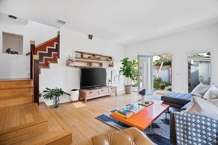 sunken living room in ty pennington's house